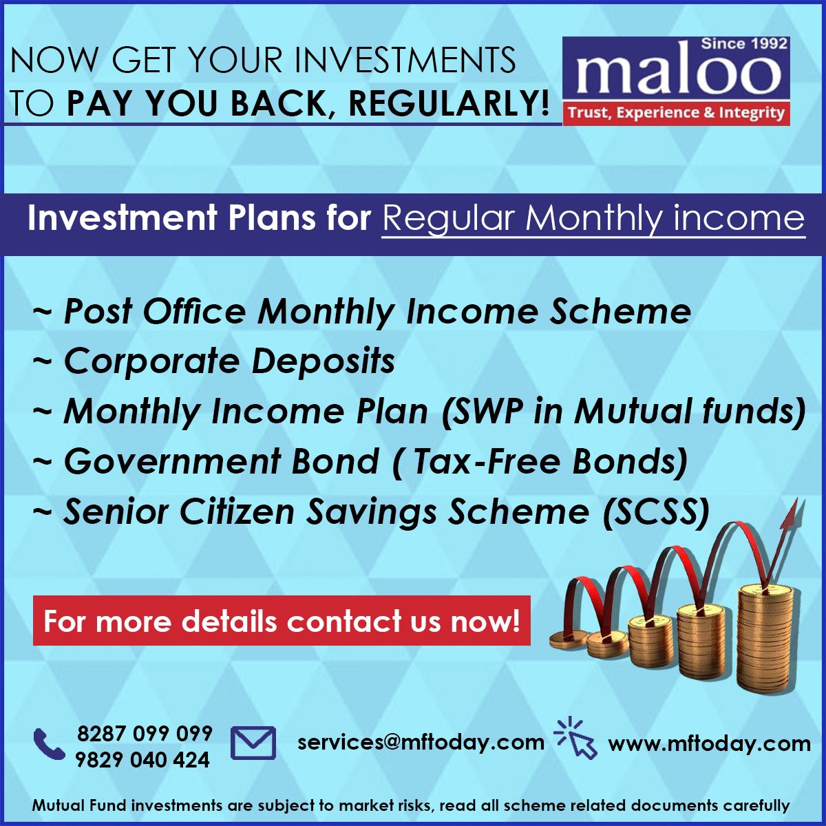 Monthly income plans
